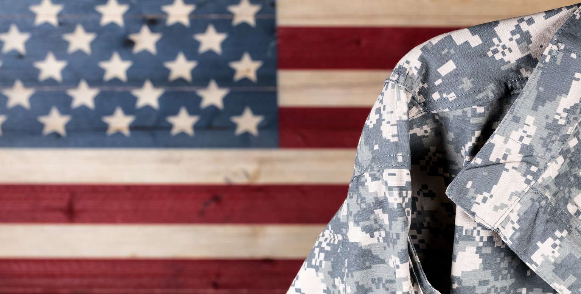 Military uniform of veteran trucker.