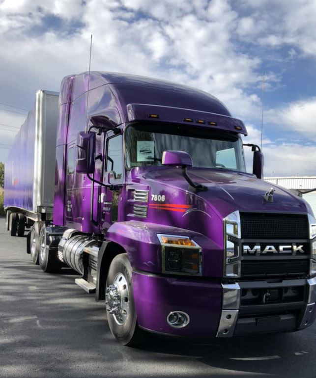 Our new corporate flagship truck - 2018 Mack Anthem with the most up-to-date safety features.
